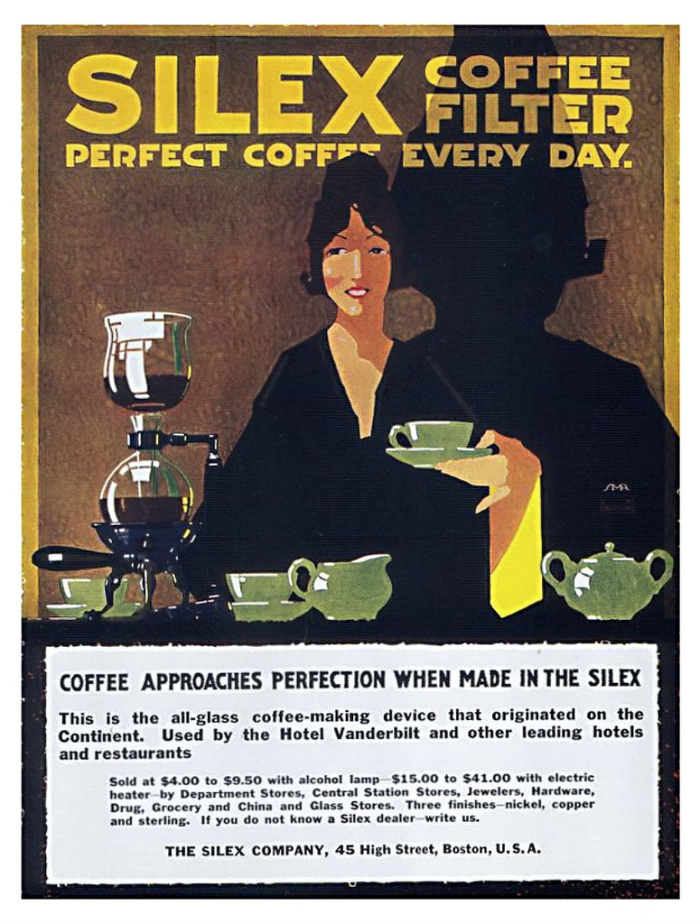 Vintage Silex Siphon Coffee Ad