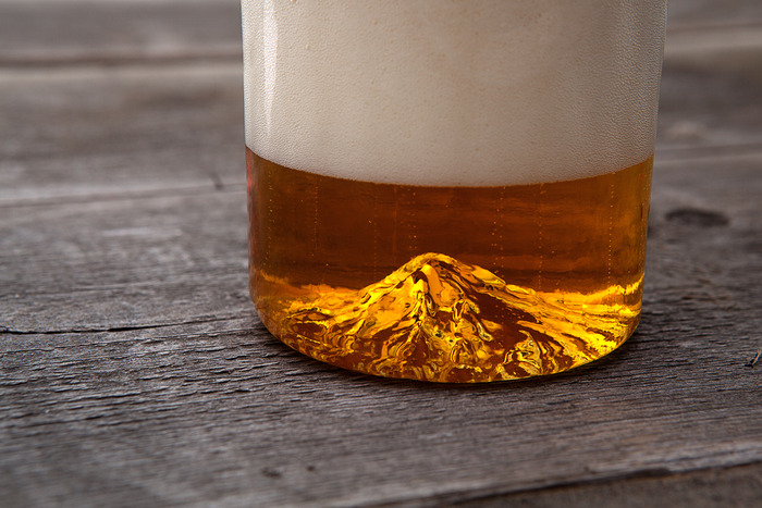Mt. Hood Pint Glass by North Drinkware