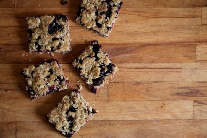 Blueberry Rye Bars by Anna Brones