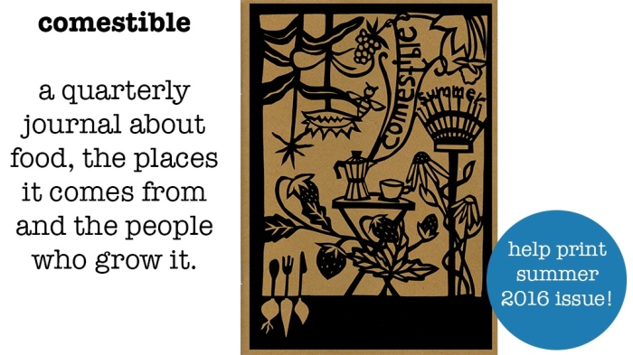 Comestible: A quarterly journal about food, the places it comes from and the people who grow it