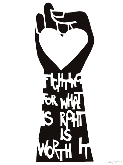 Downloadable Fighting For What Is Right Poster For Women -2183